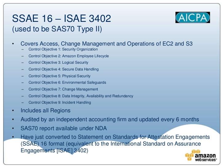 ssae 16 compliance